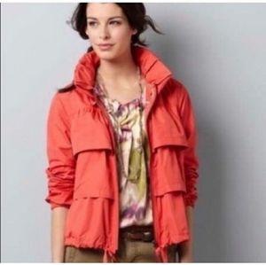 LOFT Tiered Ruffle Lightweight Rain Jacket